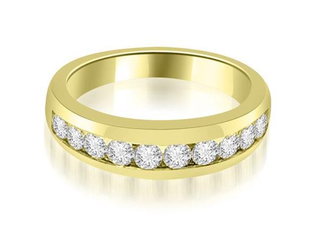 0.65 cttw. Channel Set Round Cut Diamond Wedding Band in 14K Yellow Gold