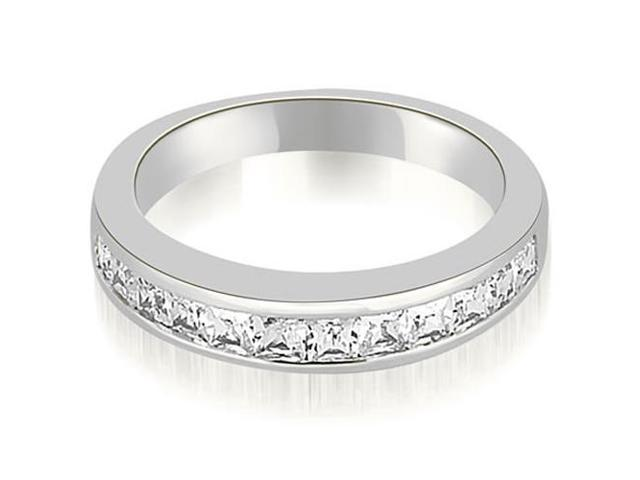 0.85 cttw. Channel Set Princess Cut Diamond Wedding Band in Platinum