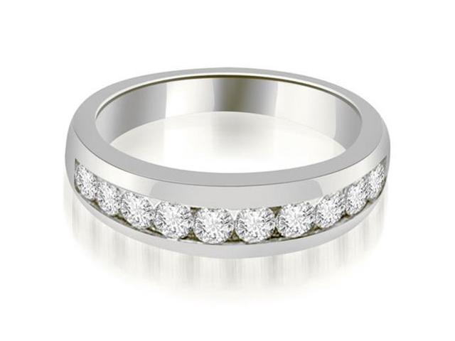 0.65 cttw. Channel Set Round Cut Diamond Wedding Band in 18K White Gold