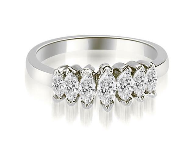 1.01 cttw. Marquise Diamond 7-Stone Wedding Band in Platinum