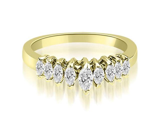 0.70 cttw. Marquise Diamond 9-Stone Wedding Band in 18K Yellow Gold