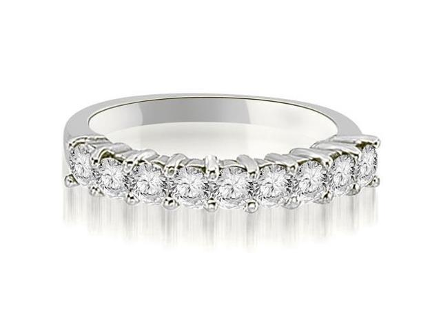 0.90 cttw. Round Diamond 9-Stone Prong Wedding Band in Platinum