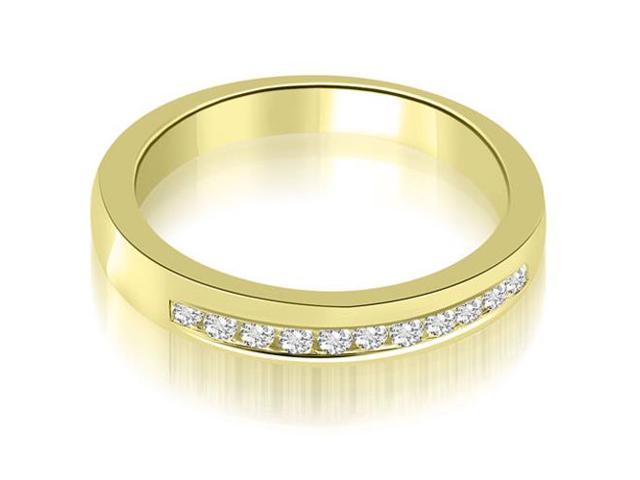 0.25 cttw. Classic Channel Round Cut Diamond Wedding Band in 14K Yellow Gold