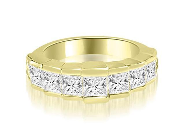 3.00 cttw. Princess Diamond 9-Stone Wedding Band in 18K Yellow Gold