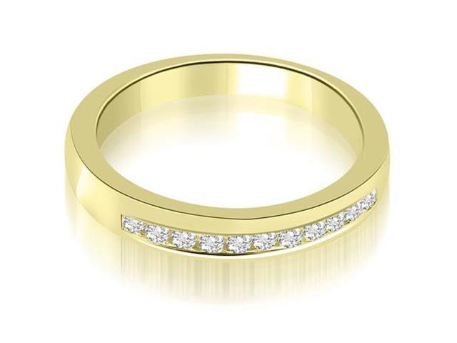 0.25 cttw. Classic Channel Round Cut Diamond Wedding Band in 18K Yellow Gold