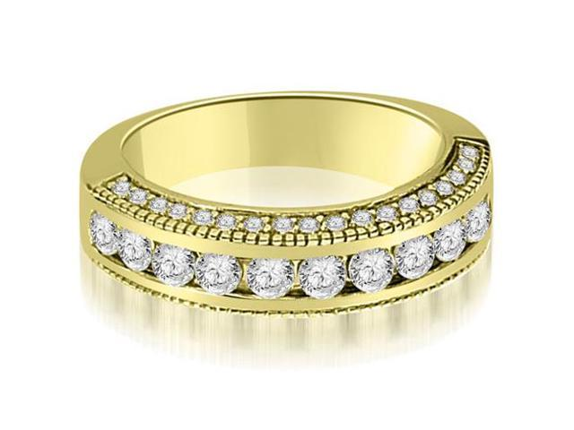 1.20 cttw. Round Diamond Antique Wedding Band in 14K Yellow Gold