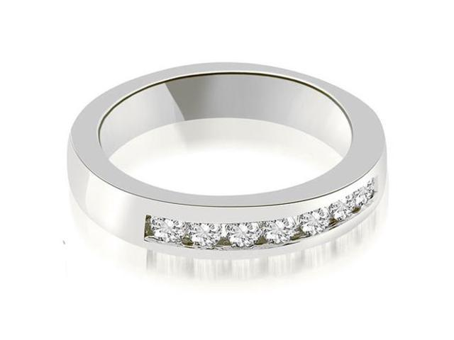 0.35 cttw. Classic Channel Round Cut Diamond Wedding Band in Platinum
