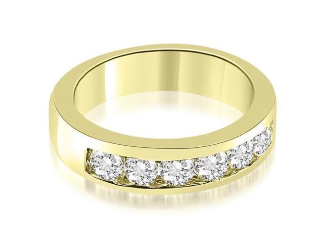 0.70 cttw. Classic Channel Round Cut Diamond Wedding Band in 18K Yellow Gold