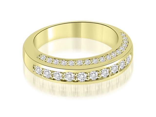 0.75 cttw. Elegant Round Cut Diamond Wedding Ring in 18K Yellow Gold (SI2, H-I)