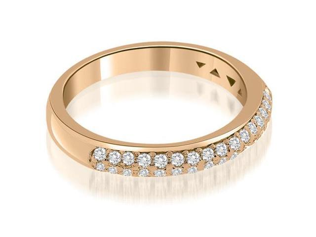 0.35 cttw. Elegant Round Cut Diamond Wedding Ring in 14K Rose Gold (SI2, H-I)