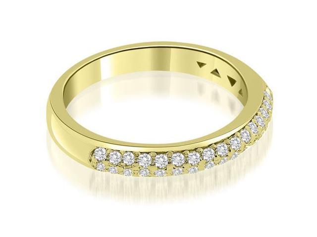 0.35 cttw. Elegant Round Cut Diamond Wedding Ring in 14K Yellow Gold
