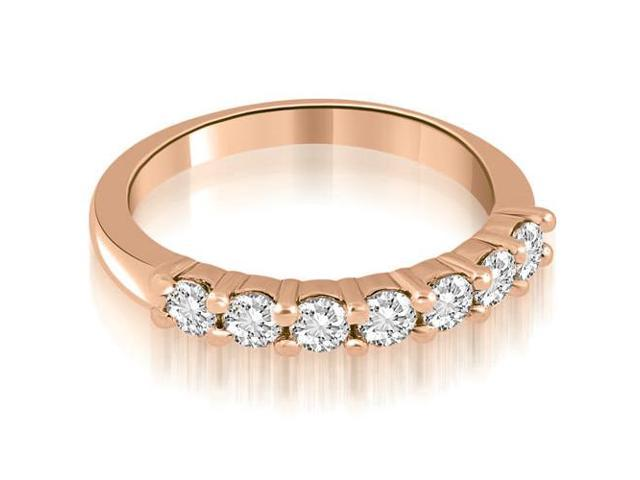 0.70 cttw. Classic Round Cut Diamond Wedding Band in 18K Rose Gold (SI2, H-I)