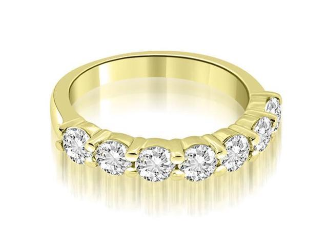 1.05 cttw. Classic Round Cut Diamond Wedding Band in 14K Yellow Gold (VS2, G-H)