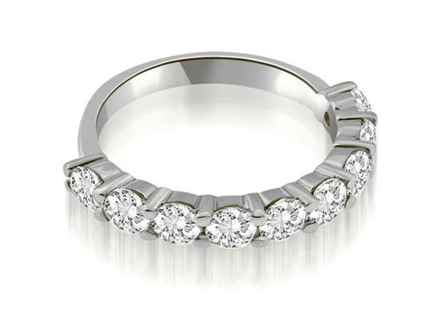 1.80 cttw. Classic Round Cut Diamond Wedding Band in 14K White Gold (SI2, H-I)