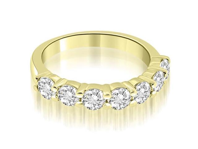 1.05 cttw. Classic Round Cut Diamond Wedding Band in 18K Yellow Gold (SI2, H-I)