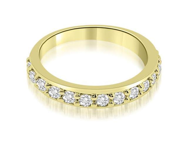 0.75 cttw. Classic Prong Set Round Cut Diamond Wedding Band in 18K Yellow Gold