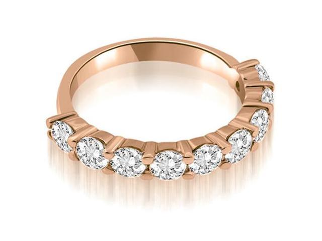 1.80 cttw. Classic Round Cut Diamond Wedding Band in 18K Rose Gold (SI2, H-I)
