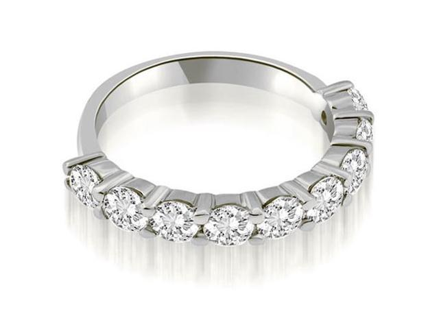 1.80 cttw. Classic Round Cut Diamond Wedding Band in 18K White Gold (VS2, G-H)
