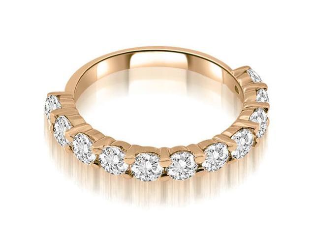 1.65 cttw. Round Cut Diamond Wedding Band in 14K Rose Gold (VS2, G-H)