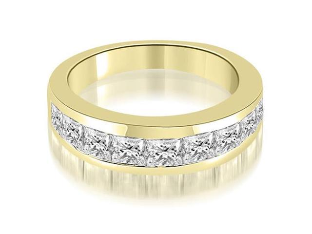 1.80 cttw. Classic Channel Set Princess Cut Diamond Wedding Band in 18K Yellow Gold (VS2, G-H)