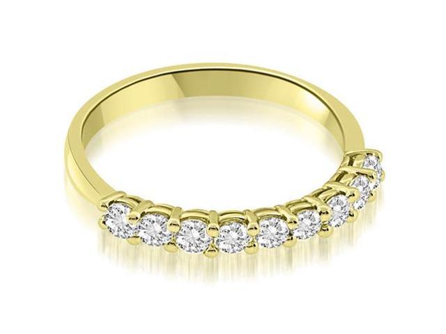 0.45 cttw. Classic Basket Prong Round Cut Diamond Wedding Band in 14K Yellow Gold