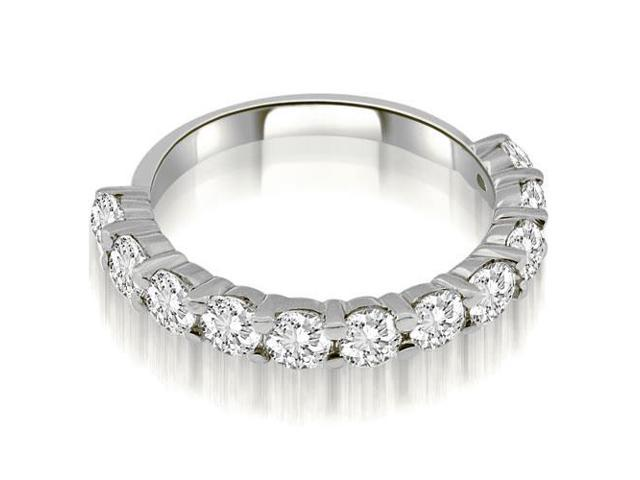 1.65 cttw. Round Cut Diamond Wedding Band in 14K White Gold (SI2, H-I)