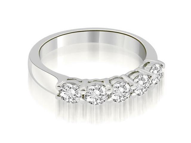 0.75 cttw. Classic Round Cut Diamond Wedding Band in 18K White Gold (SI2, H-I)