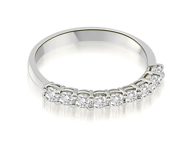 0.45 cttw. Classic Basket Prong Round Cut Diamond Wedding Band in Platinum