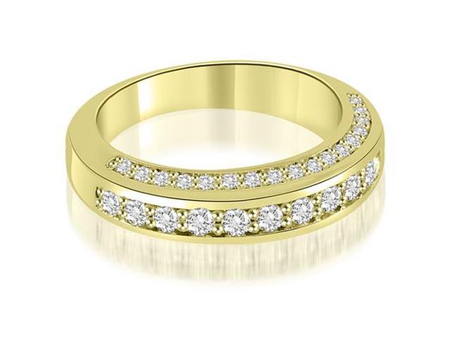 0.75 cttw. Elegant Round Cut Diamond Wedding Ring in 14K Yellow Gold (SI2, H-I)