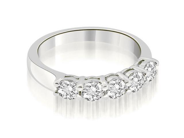 0.75 cttw. Classic Round Cut Diamond Wedding Band in Platinum (SI2, H-I)
