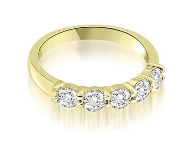 0.75 cttw. Classic Round Cut Diamond Wedding Band in 18K Yellow Gold
