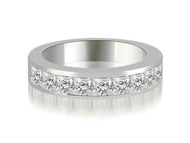 1.26 cttw. Princess Diamond 9-Stone Channel Wedding Band in 14K White Gold