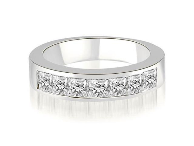 1.00 cttw. Princess Diamond 7-Stone Channel Wedding Band in Platinum