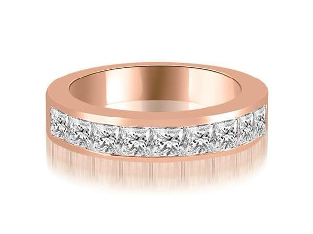 1.26 cttw. Princess Diamond 9-Stone Channel Wedding Band in 18K Rose Gold