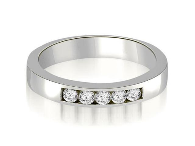 0.25 cttw. Round Diamond 5-Stone Channel Wedding Band in 14K White Gold