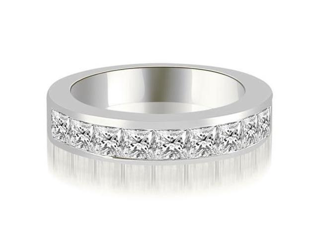 1.26 cttw. Princess Diamond 9-Stone Channel Wedding Band in 18K White Gold