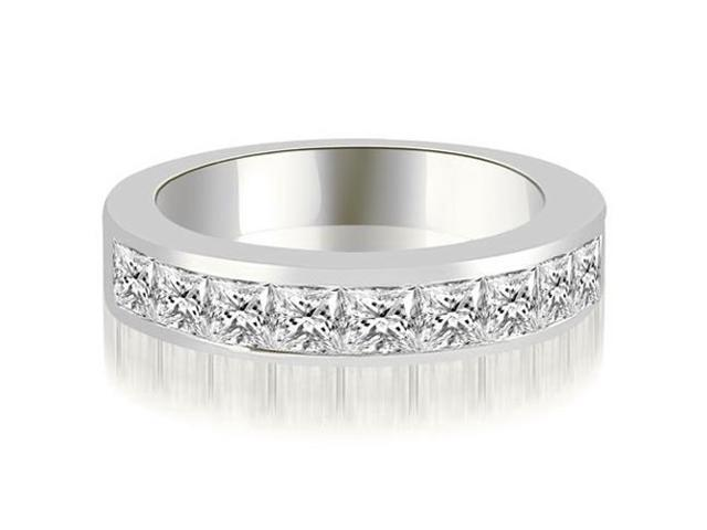 1.80 cttw. Princess Diamond 9-Stone Channel Wedding Band in Platinum