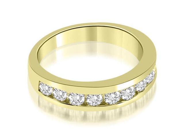 1.10 cttw. Classic Channel Round Cut Diamond Wedding Band in 18K Yellow Gold