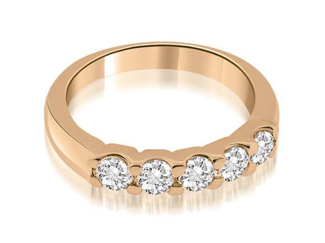 0.50 cttw. Prong Set Round Diamond Wedding Band in 14K Rose Gold