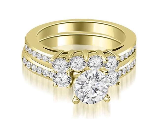 2.52 cttw. Round Cut Diamond Engagement Set in 14K Yellow Gold