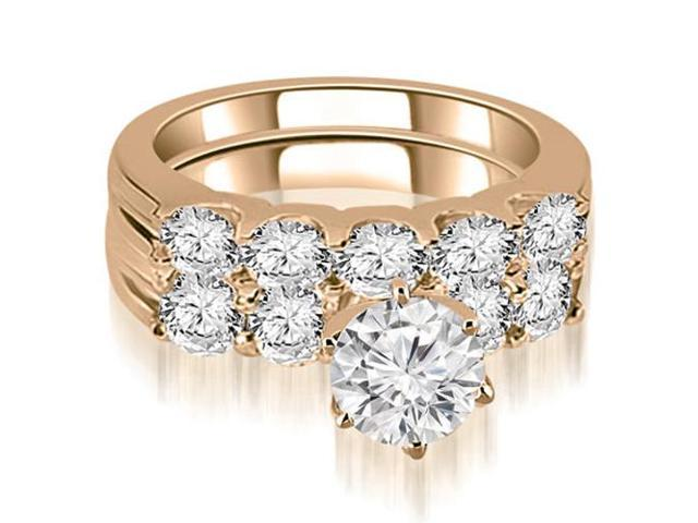 2.25 cttw. Round Cut Diamond Bridal Set in 14K Rose Gold