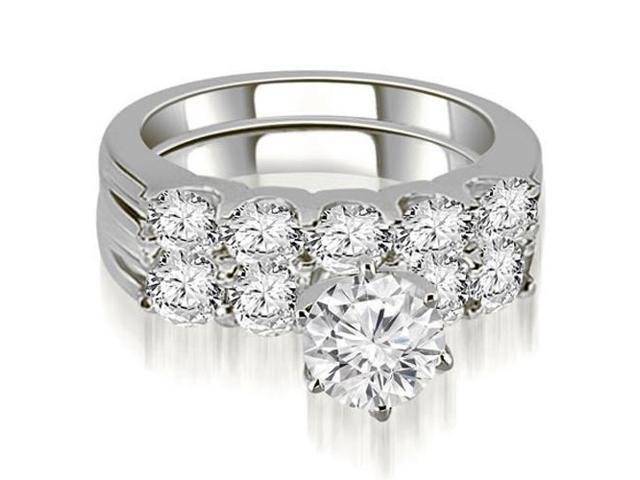 2.55 cttw. Round Cut Diamond Bridal Set in 14K White Gold