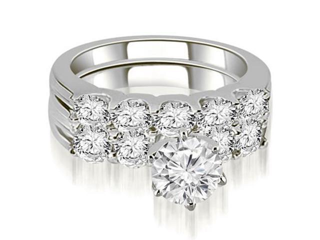 2.25 cttw. Round Cut Diamond Bridal Set in 18K White Gold