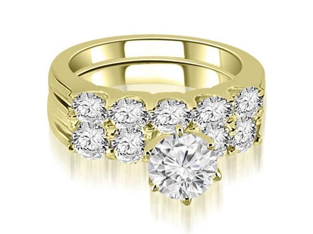 2.80 cttw. Round Cut Diamond Bridal Set in 14K Yellow Gold