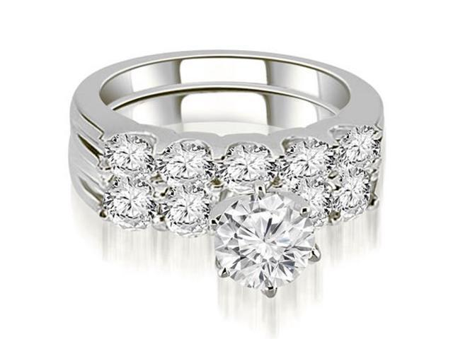 2.55 cttw. Round Cut Diamond Bridal Set in Platinum