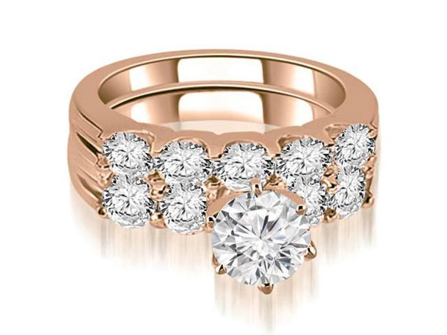 2.15 cttw. Round Cut Diamond Bridal Set in 18K Rose Gold