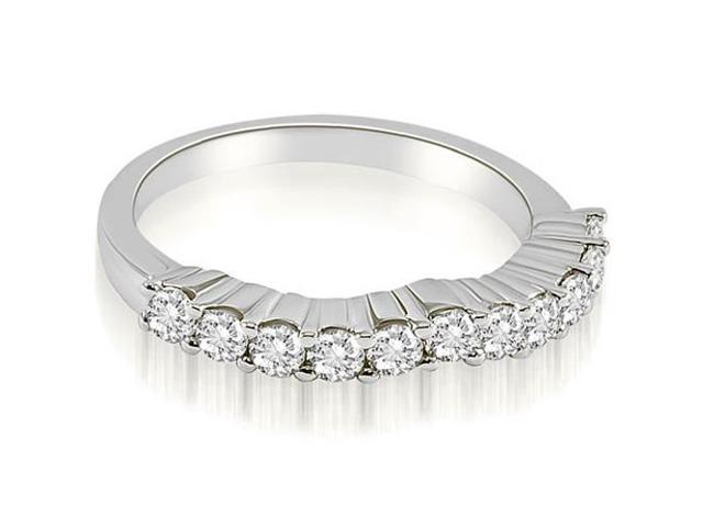 0.55 cttw. Curved Round Cut Diamond Wedding Band in Platinum