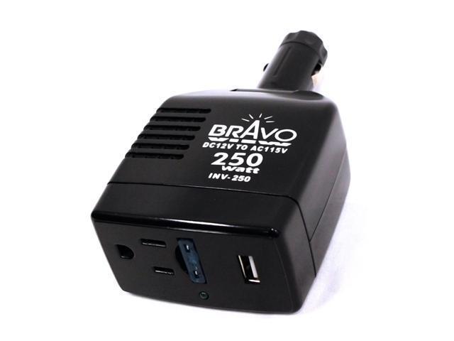 Bravo View INV-250 - 250-Watt Peak Power Inverter with USB Port