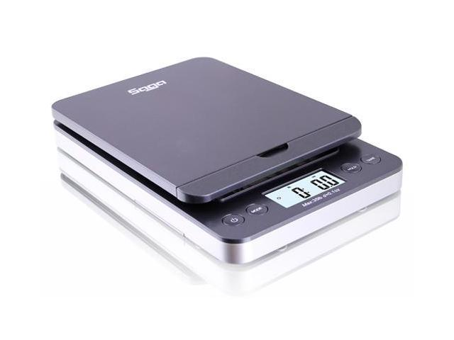 Saga 86 lb Digital Postal Shipping Scale x 0.1 oz w/ AC USB M S Pro Model (Gray)