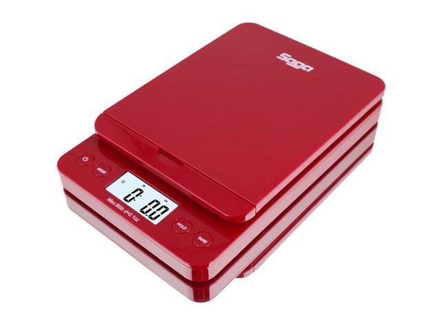 SAGA 86 LB Digital Postal Shipping Scale 0.1 Oz Weight Postage W/AC USB M S Pro Model - Red